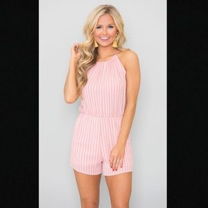 Pink Lily So Glad to See You Pink Romper
